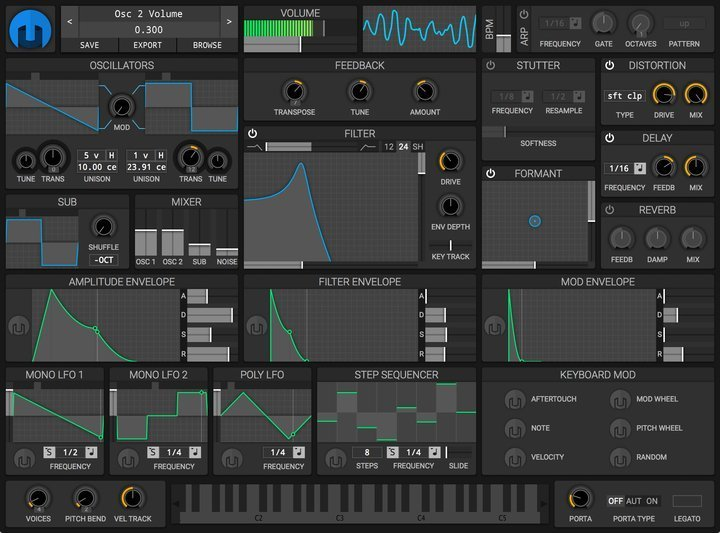 helm Linux synthesizer