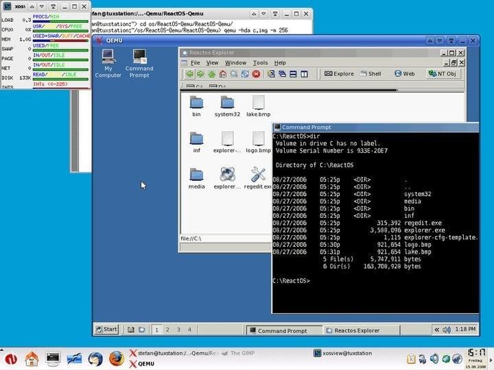 QEMU Linux Windows emulator