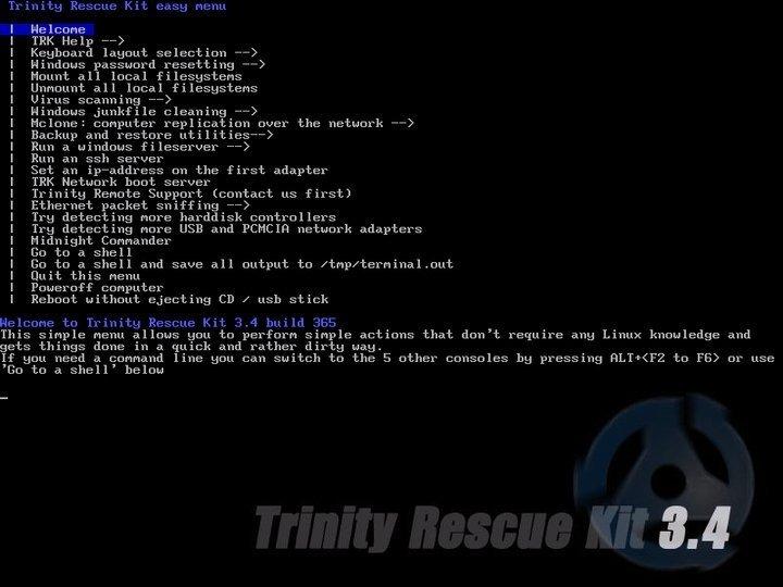 TRK disk cloning software for Linux