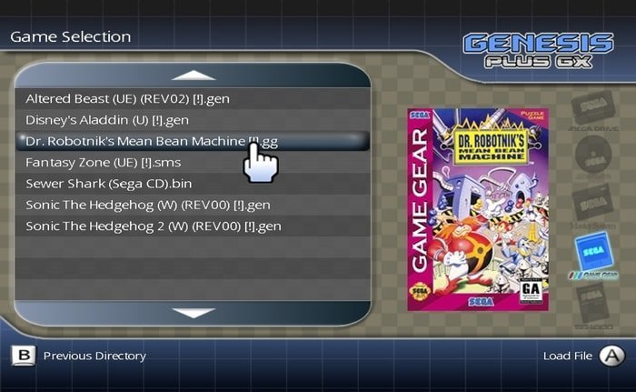 Gnesis Plus GX Sega Mega Drive emulator