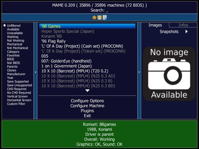 MAME retro games emulator
