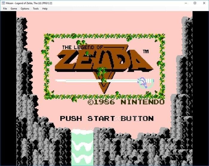 Mesen game emulator console