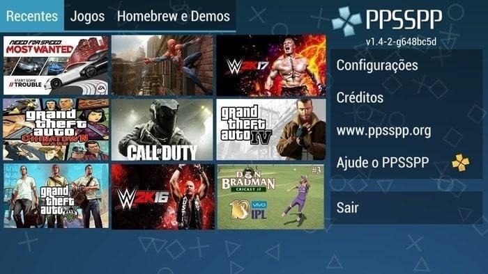 PSP sony console emulator PPSSPP
