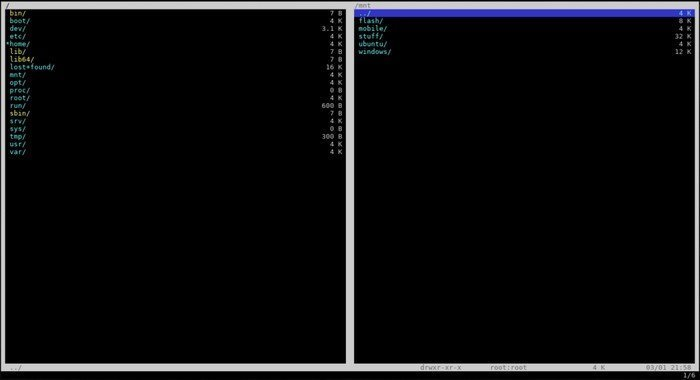 Vifm console file manager for Linux