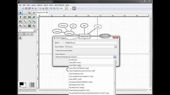 dia vector graphics software