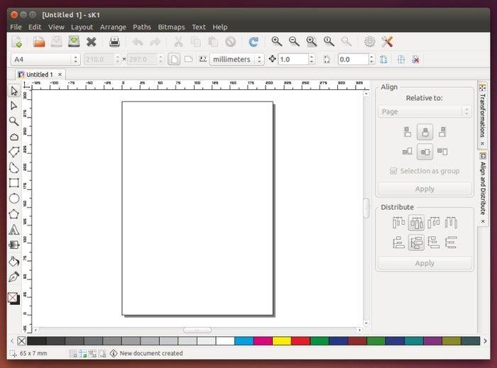 sk1 vector graphics software