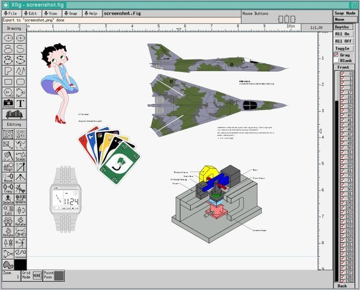 xfig vector graphics software