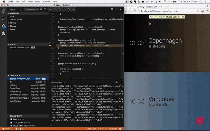 Chrome Debugger Extension for Code