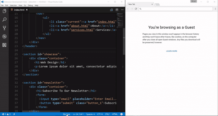 Visual Studio Code extensions for servers