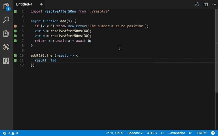 Quokka JS extension for VS Code