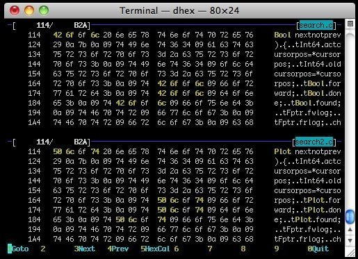 dhex linux hex editor