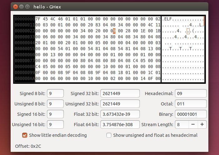 ghex linux hex editor