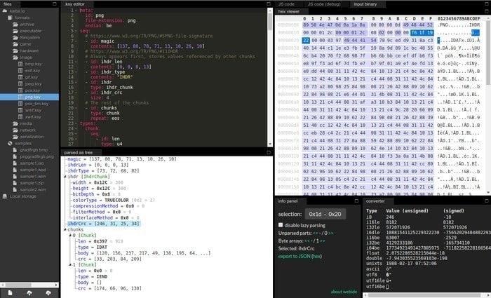 kaitai_struct linux hex editor