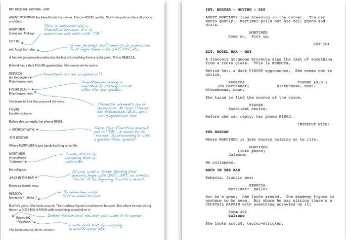 fountain-best script writing software