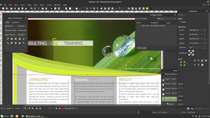scribus-script writing software