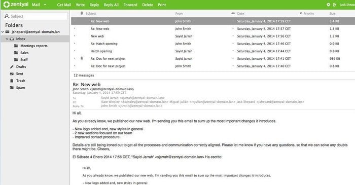 Zentyal Linux mail server