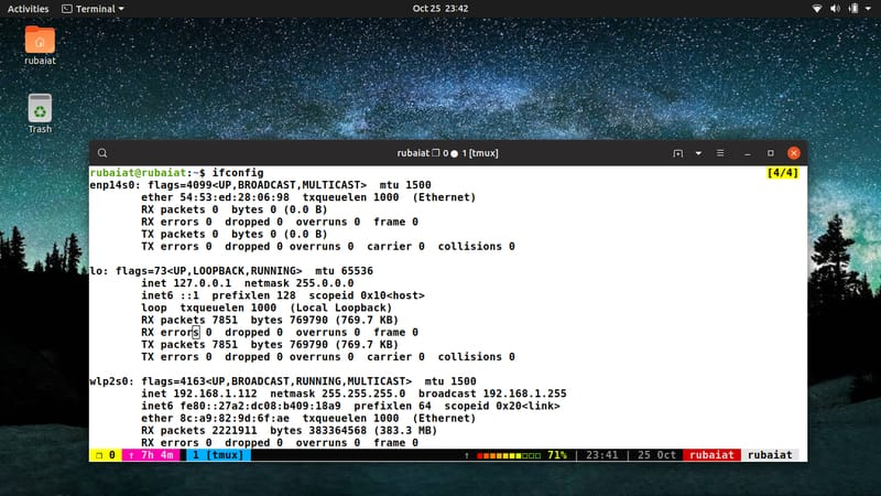 Linux ifconfig basics