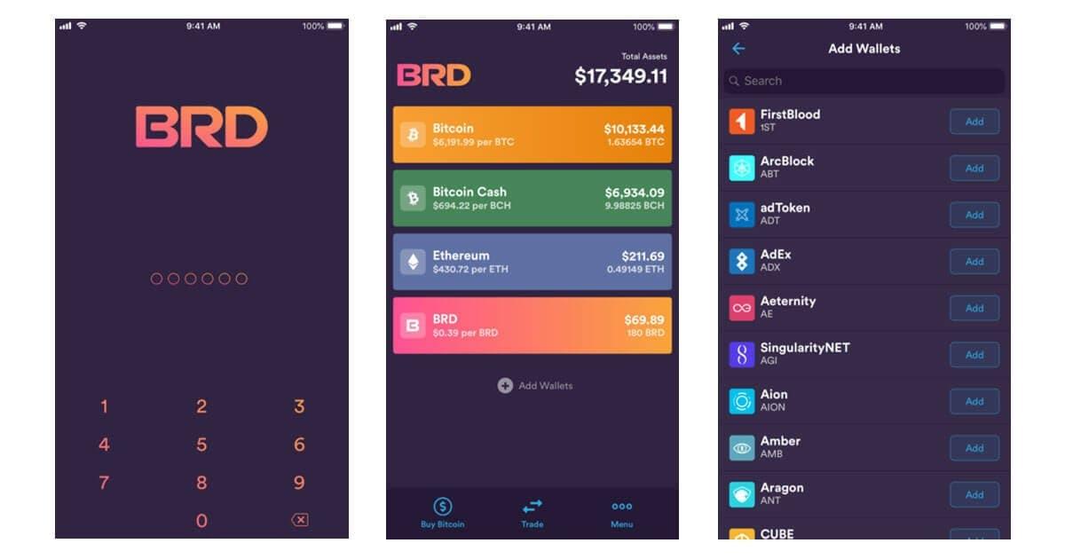 BRD best cryptocurrency wallet