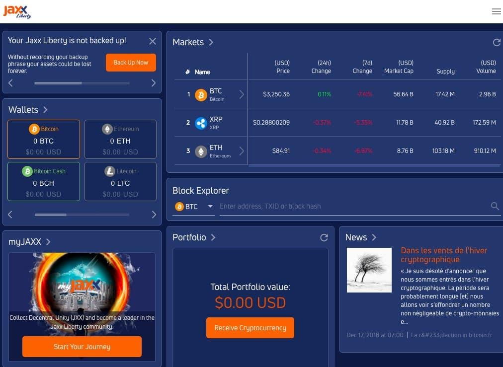 Jaxx best cryptocurrency wallet