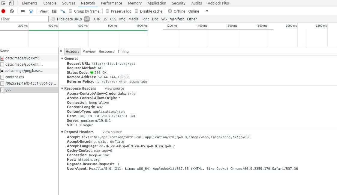 A Screenshot of requests module - one of python libraries