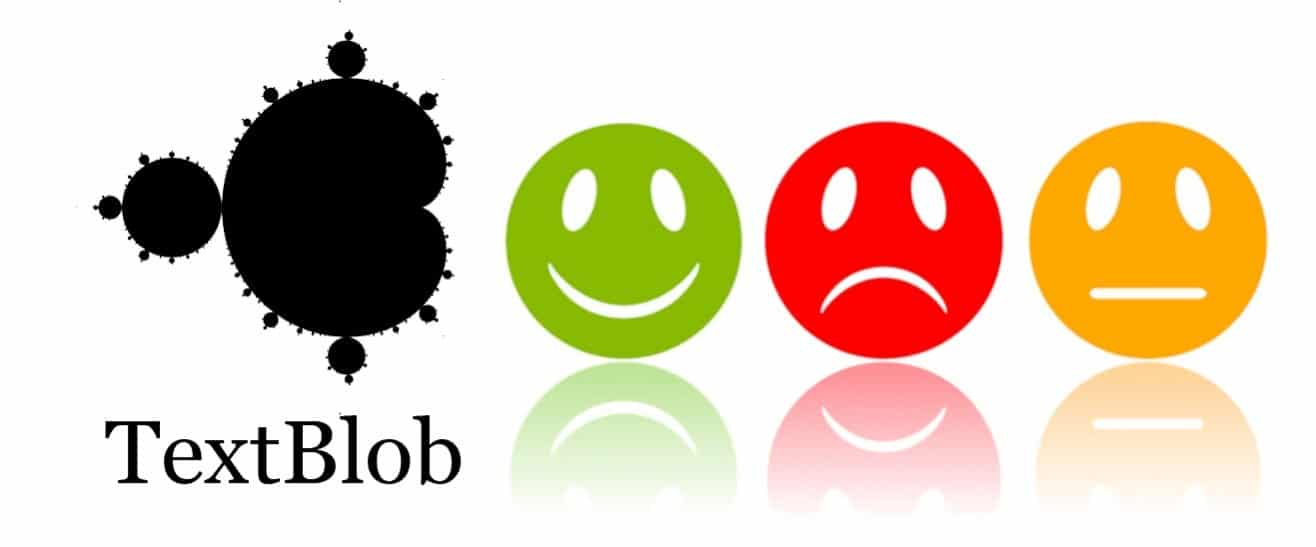 Sentiment Analysis Example using three expression logos with TextBlob - Python packages