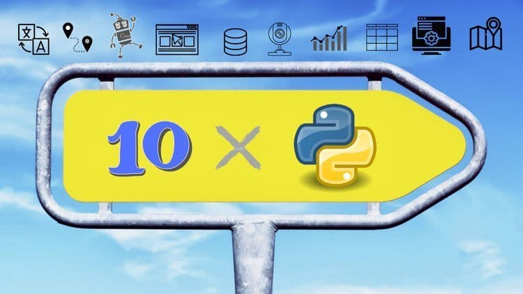 Cloudy Background with Logo Top And A Yellow Right Sign Board With With 10*Logo.