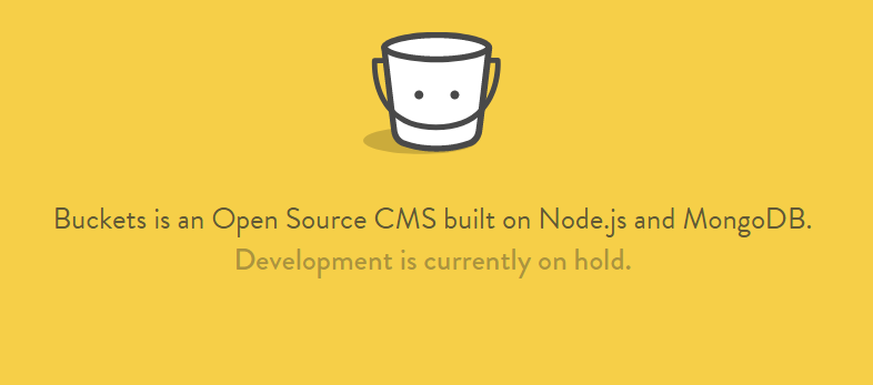 Introduction to Bucket.io - NodeJs CMS Yellow Homepage