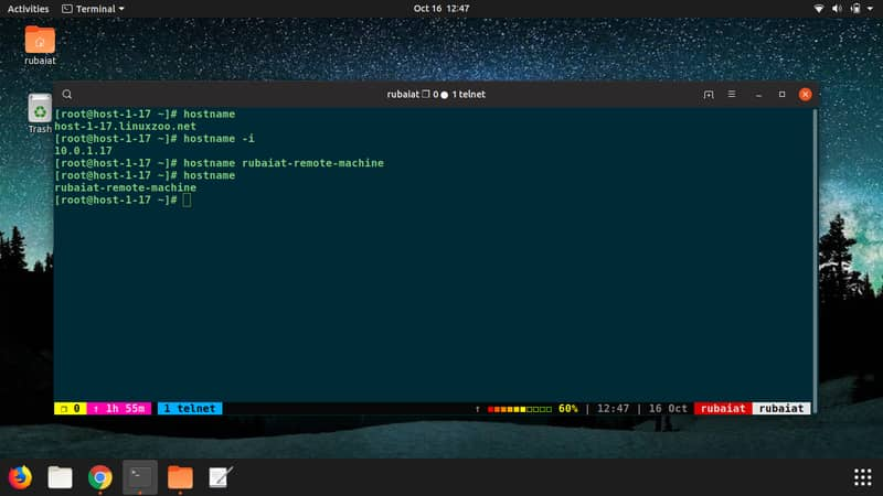 hostname command in Linux