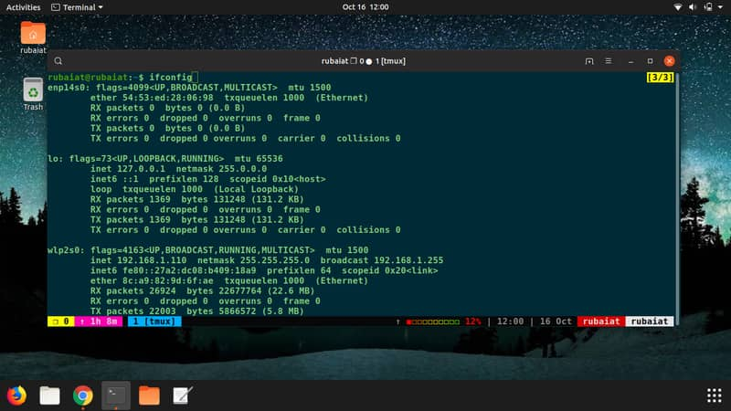 Linux network commands for interfaces
