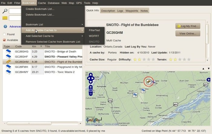 open cache manager gps tools for linux