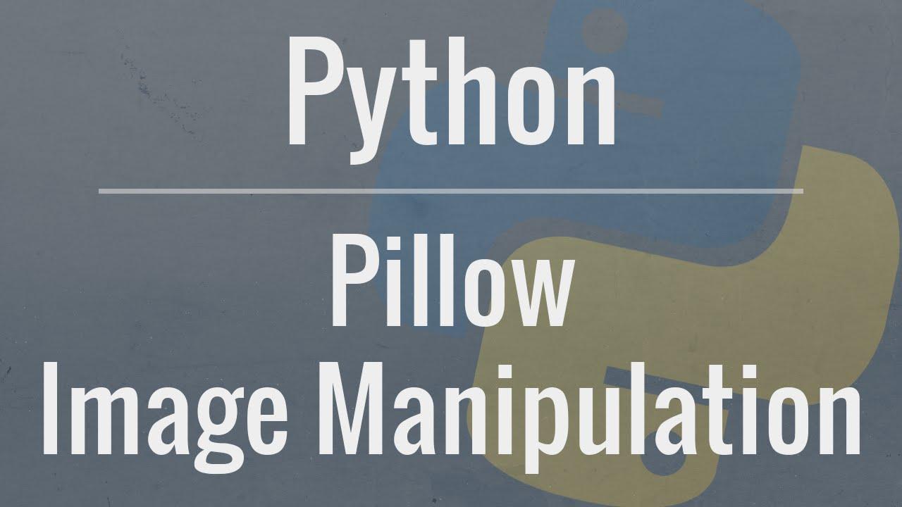 "Python Logo in Background with Text ""Python Image Manipulation"""