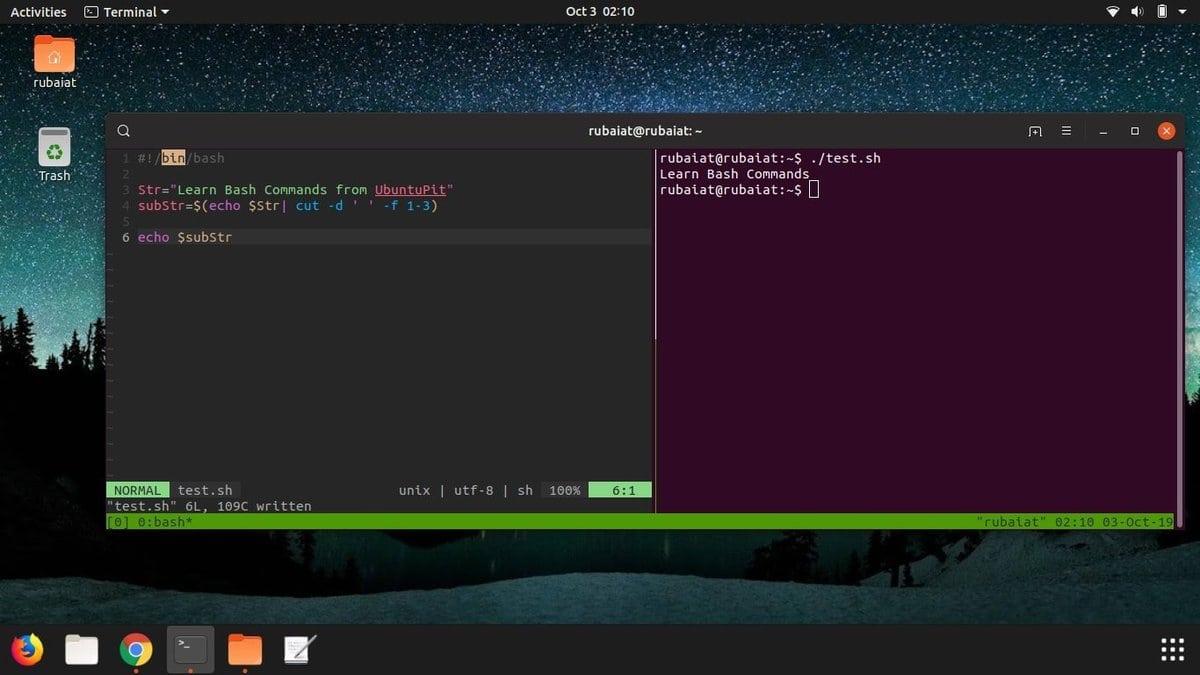 string_manipulatio in Linux bash script