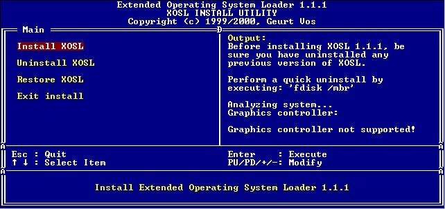 xOSL linux boot manager