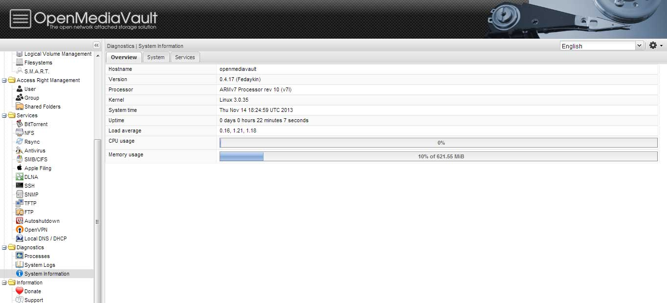 Raspberry Pi OS -OpenMediaVault