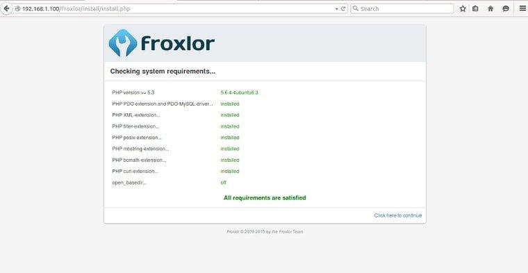 froxlor