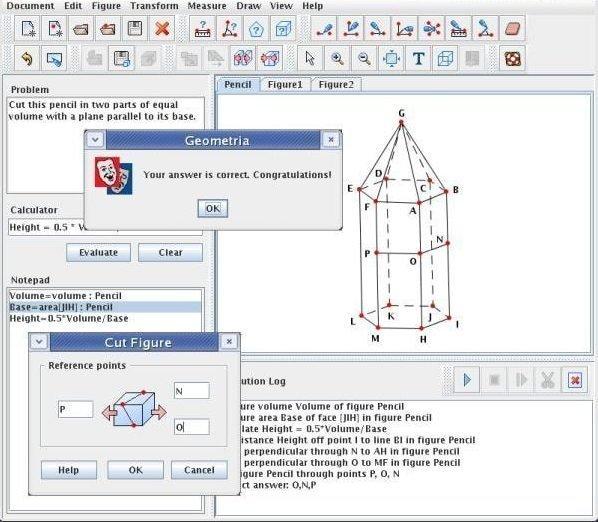 geometria screenshot linux geometry software