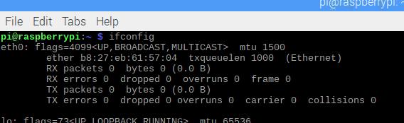 ifconfig raspberry pi commands jhg