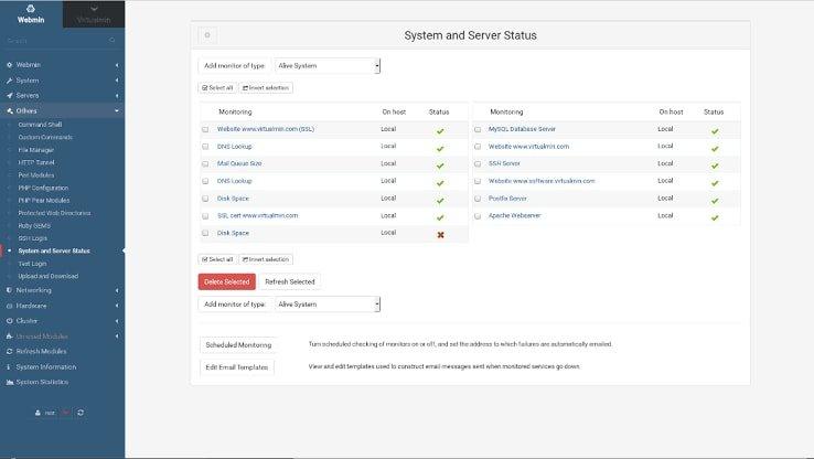 open source control panel Virtualmin