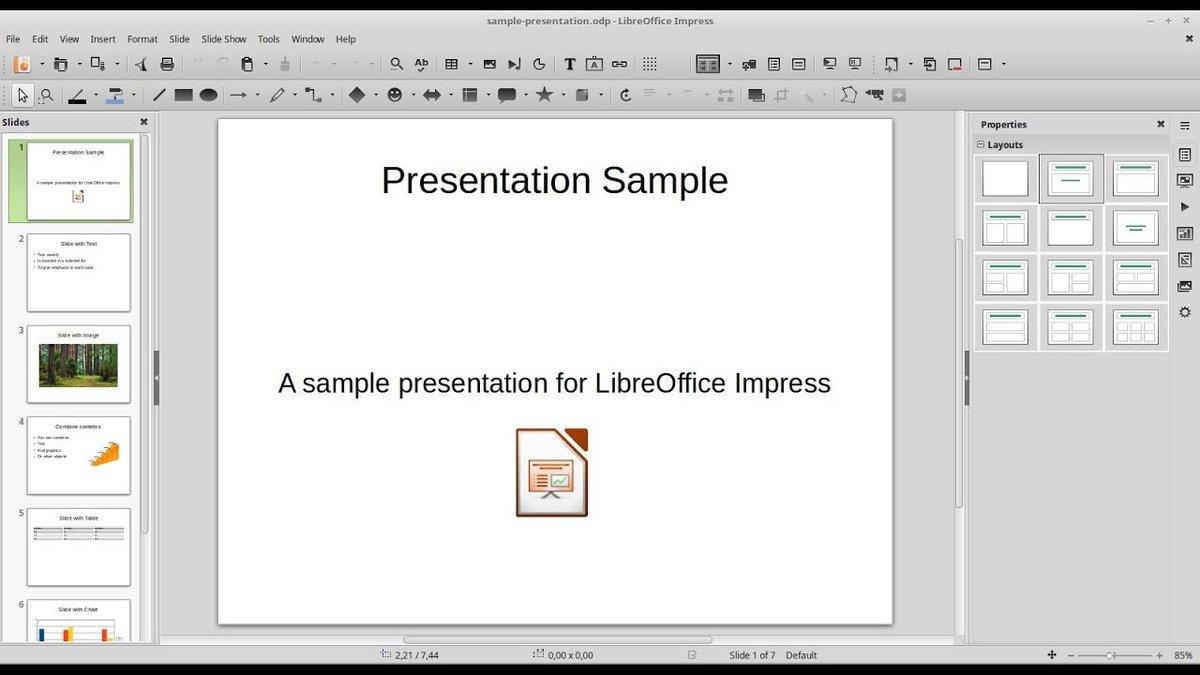 1. Libra Office Impress