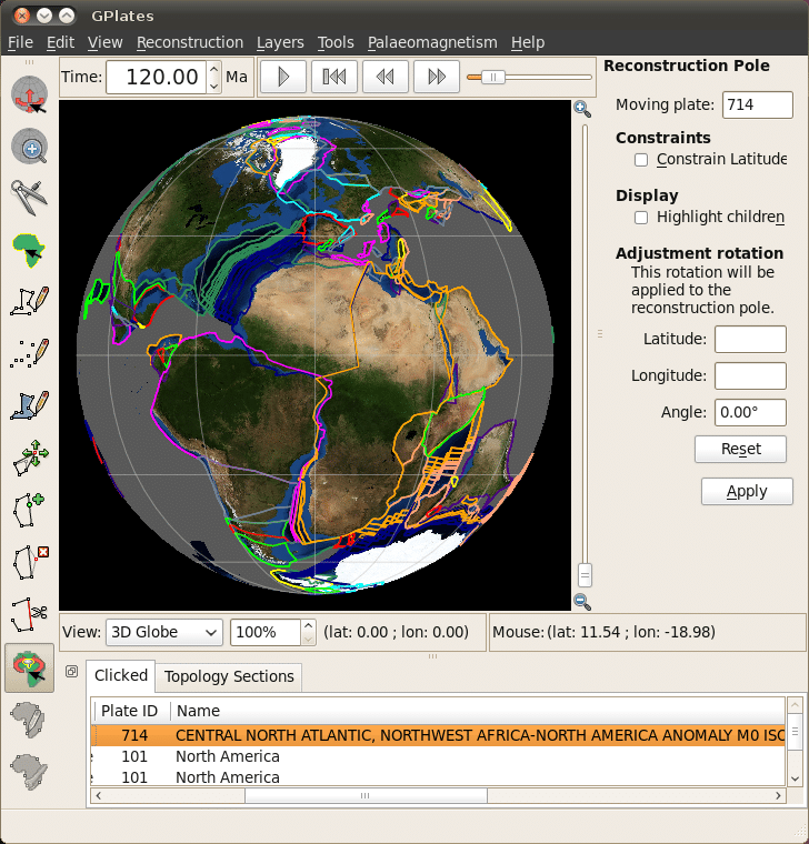 GPlates - Geoscience Software for Linux