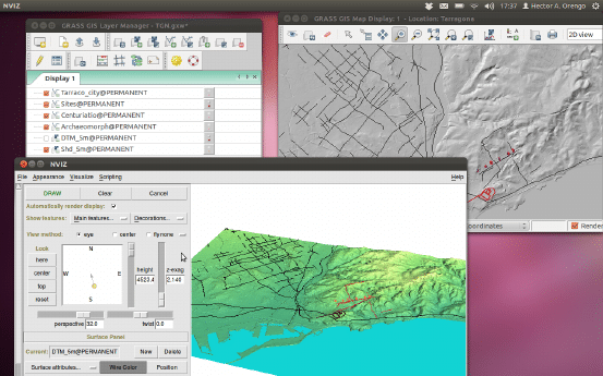GRASS - Geoscience Software for Linux