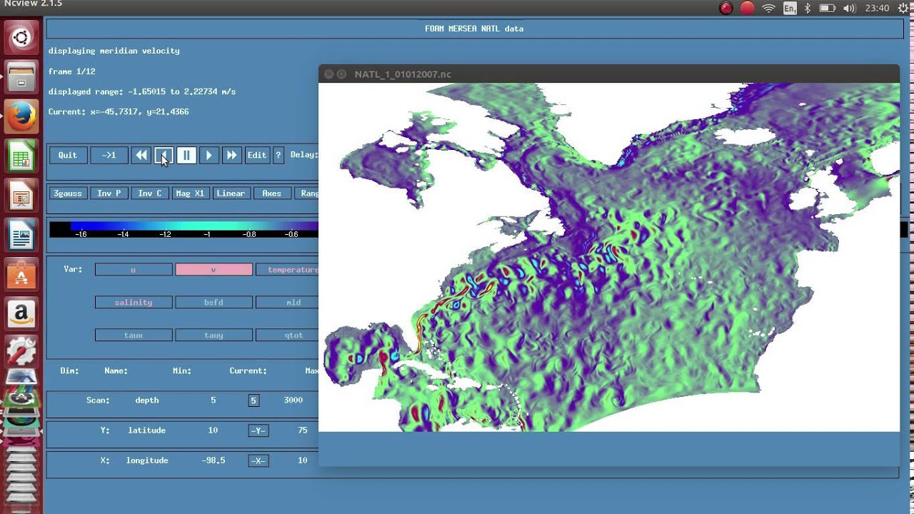 ncview - Geoscience Software for Linux