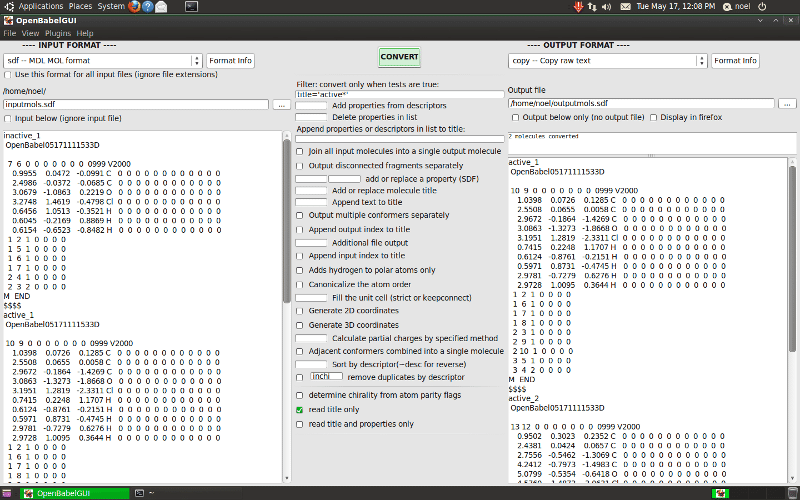 9. Open Babel - Chemistry Tools for Linux