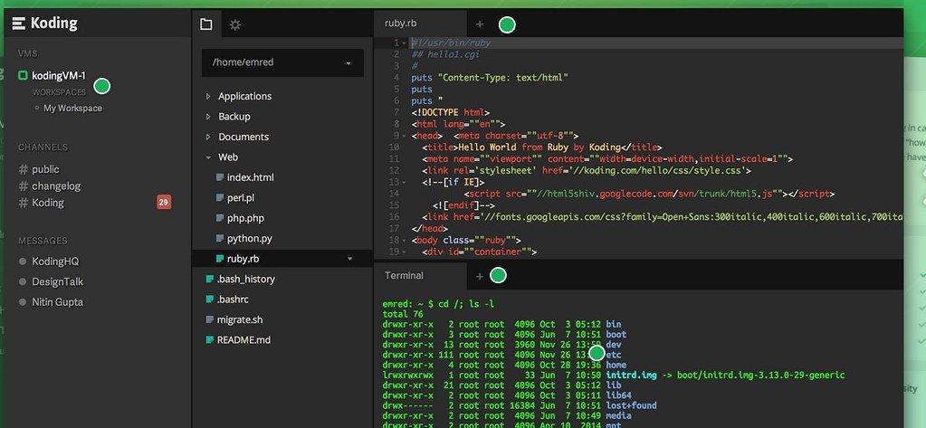 koding Cloud IDE