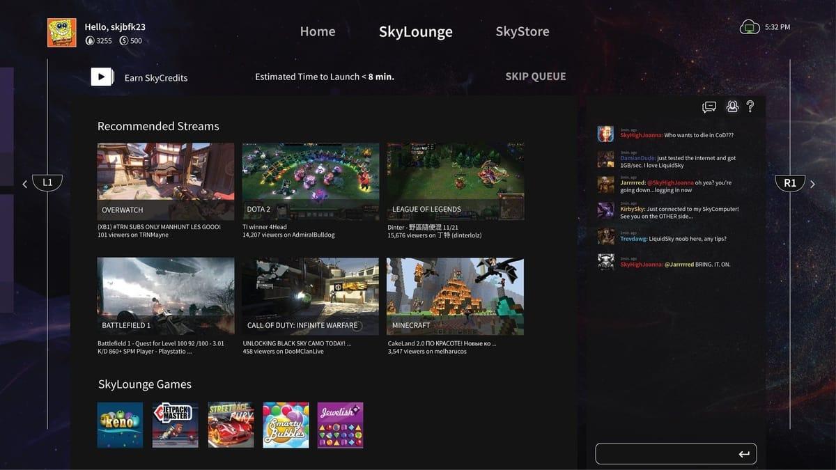 Liquidsky Cloud Gaming Services