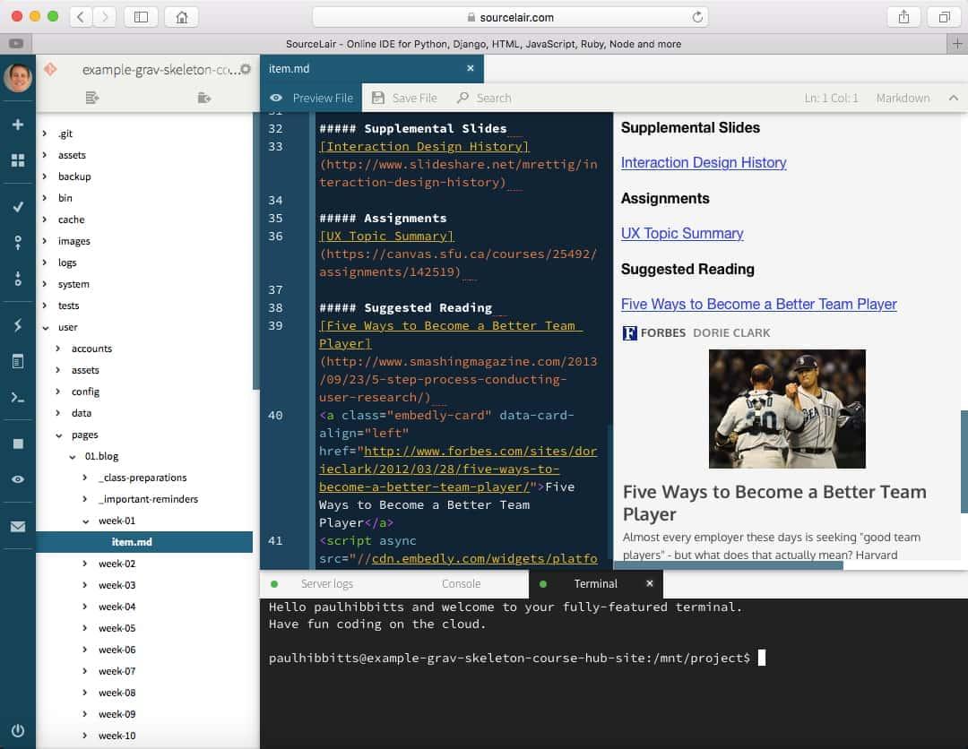 sourcelair Cloud IDE