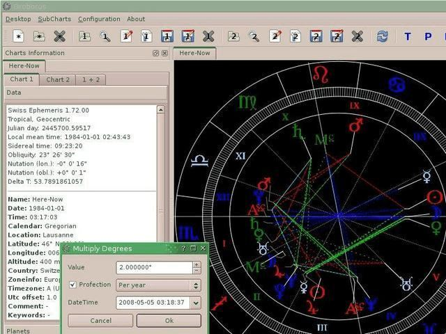 8. Orboros - Linux Astrology Software