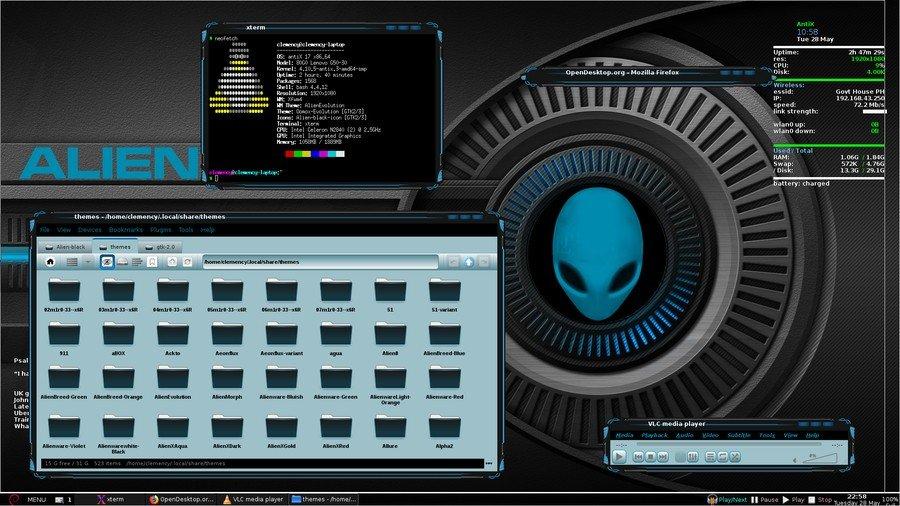 Alien Evolution - Xfce theme manager