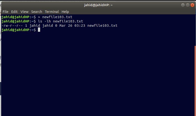 Create file in Linux redirect symbol file