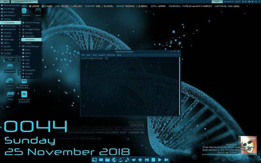 Cyanogen - Xfce arc theme